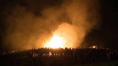 Bonfires in Reykjavic Iceland - Top European New Years Eve Destinations - MyLateDeals