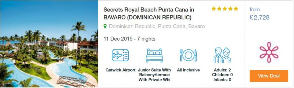 my late deals christmas holidays all-inclusive